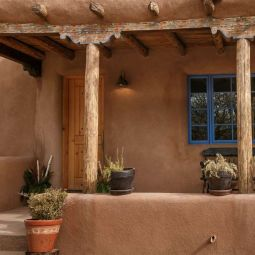 Adobe house, New Mexico USA