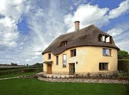 Cob house in England