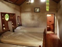 adobe bricks bedroom