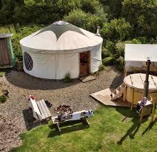 yurt and living area
