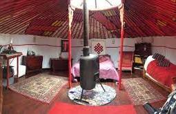 basic yurt interior